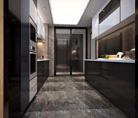 厨房推拉门现代简约风格装潢设计图片