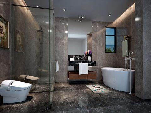 卫生间推拉门现代简约风格装饰效果图