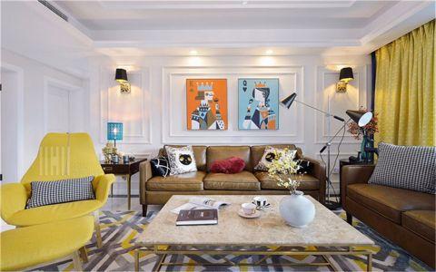 混搭风格123平米三室两厅新房装修效果图
