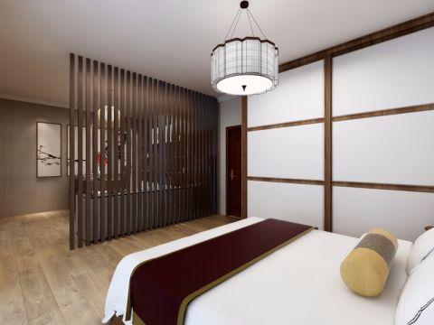 卧室隔断中式风格装饰图片