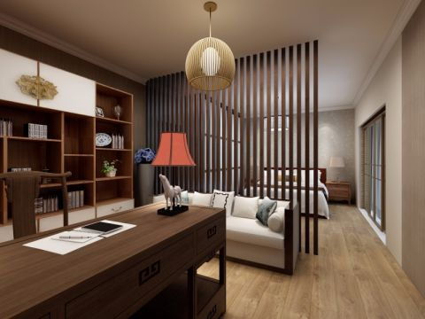 卧室书桌中式风格装潢图片