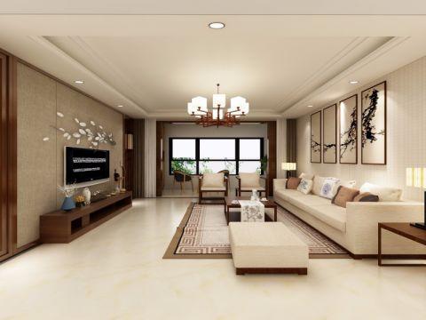 客厅吊顶中式风格装潢设计图片