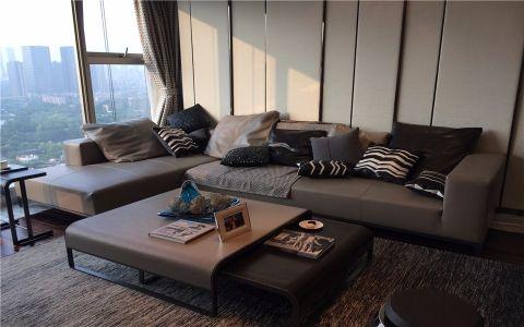 绿都万和城140平米现代简约风格三室装修效果图