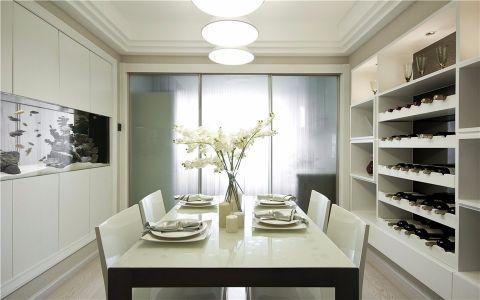 餐厅隐形门现代简约风格装潢效果图