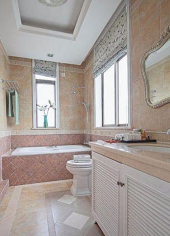 卫生间地砖地中海风格装修图片