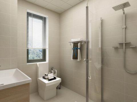 卫生间窗帘现代简约风格装饰效果图