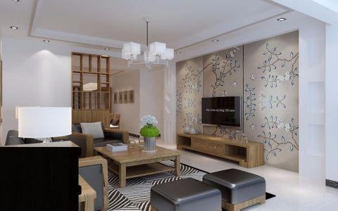 汇景园110平方简中风格三居室装修效果图