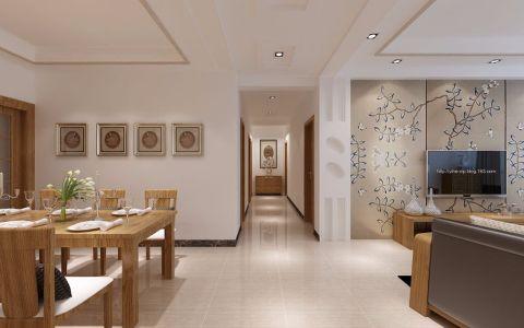 餐厅走廊简中风格效果图