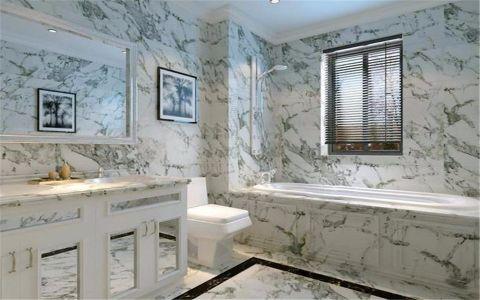 卫生间背景墙法式风格效果图