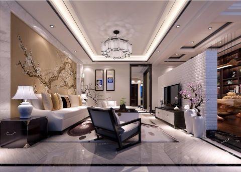 银亿上尚城新中式风格别墅装修效果图