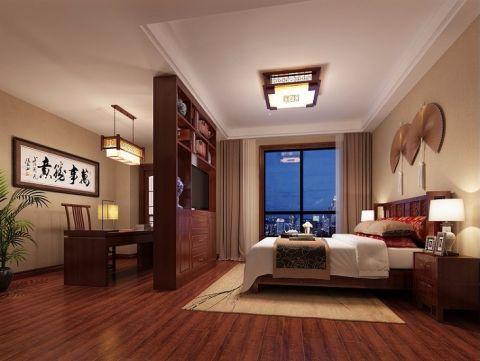 卧室博古架新中式风格效果图
