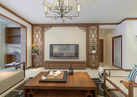 尚城山水134平方中式风格四居室装修效果图