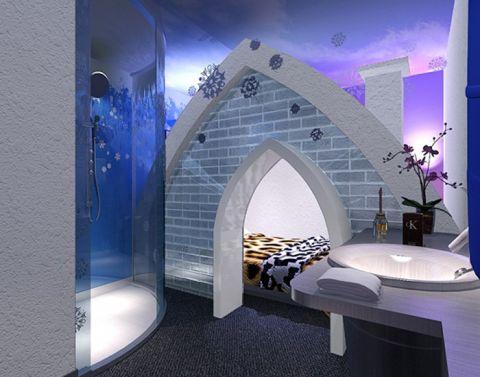 80万蜜桃湾主题酒店装修效果图