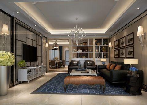 远洋城荣域160平欧式四居室装修效果图