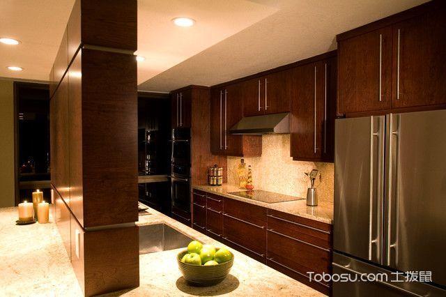 厨房红色隔断现代风格装修设计图片
