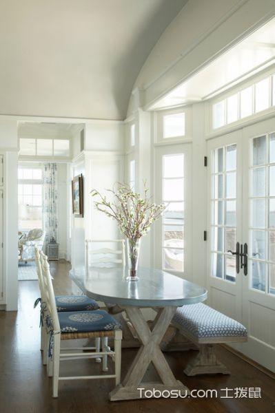 餐厅白色餐桌简欧风格效果图
