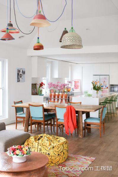 餐厅白色细节混搭风格装修设计图片