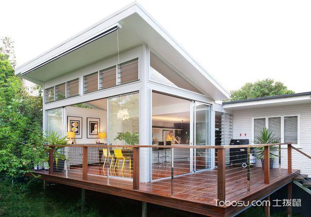 阳台红色地板砖现代风格效果图