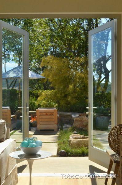 阳台白色推拉门现代风格装饰效果图