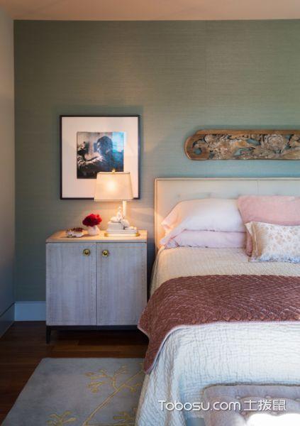 卧室白色床头柜现代风格装饰效果图