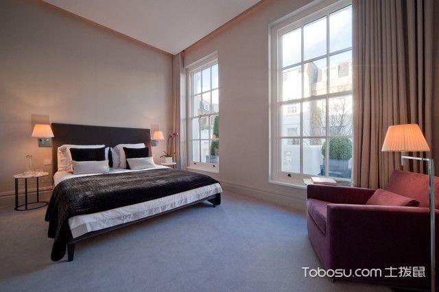 卧室咖啡色榻榻米现代风格装饰设计图片