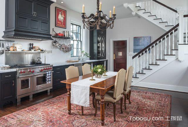2019美式厨房装修图 2019美式楼梯装修效果图片