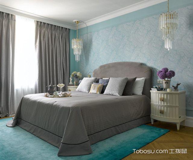 卧室彩色榻榻米混搭风格装潢设计图片
