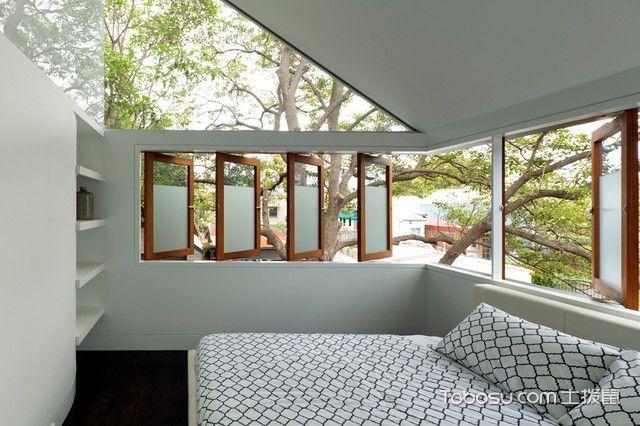 卧室白色榻榻米现代风格装潢效果图