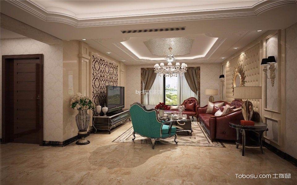 金色地带89平新古典风格三居室装修效果图