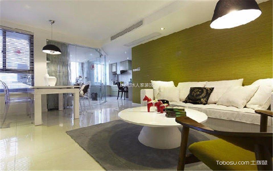 瑞和华府90平后现代风格两居室装修效果图
