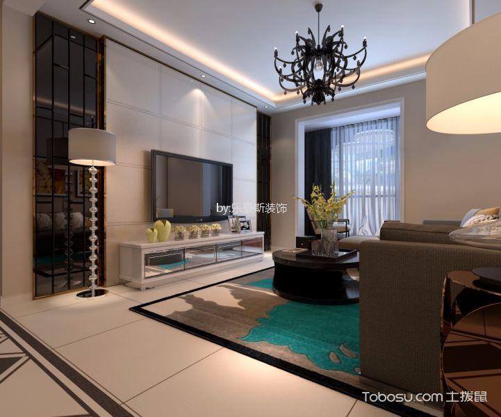新鸿基悦城176平简约风格三居室装修效果图