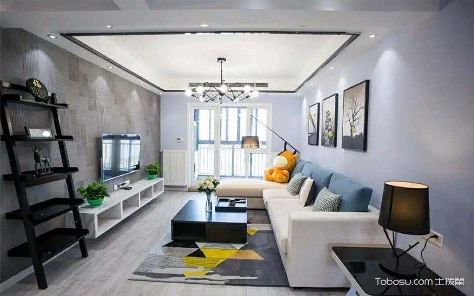 北欧风格108平米三室两厅新房装修效果图