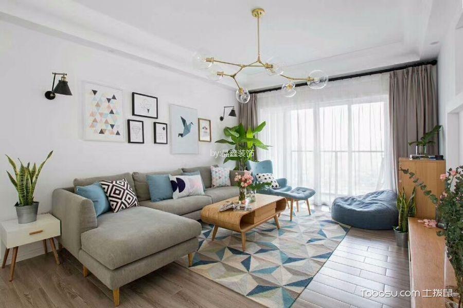 110平北欧风格公寓装修效果图
