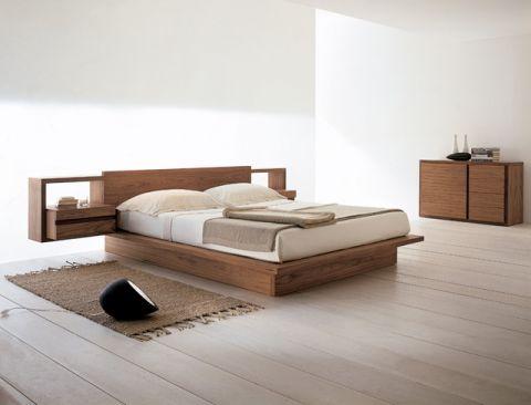 卧室床现代风格装潢图片