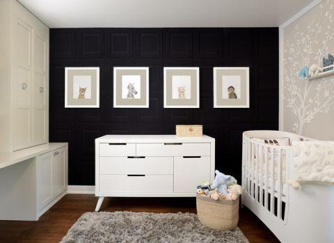 儿童房照片墙现代风格装潢效果图