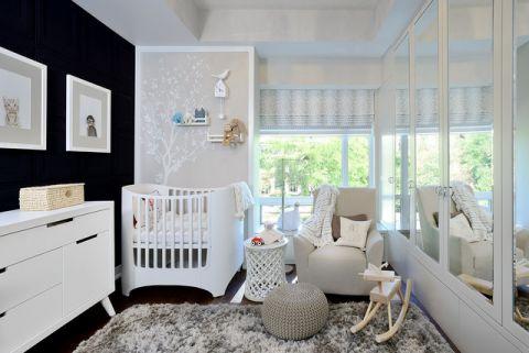 儿童房白色细节现代风格装修图片