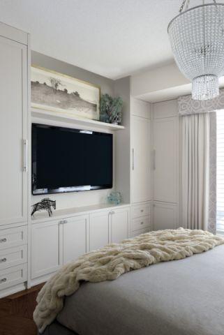 卧室白色橱柜现代风格装修设计图片