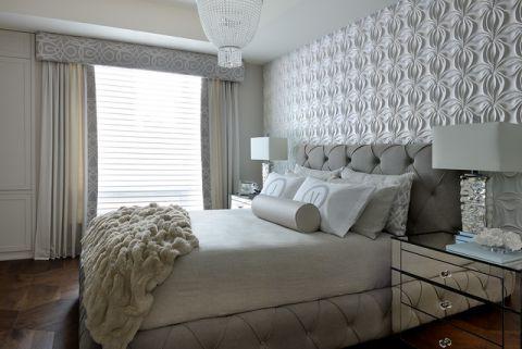 卧室米色窗帘现代风格装饰设计图片