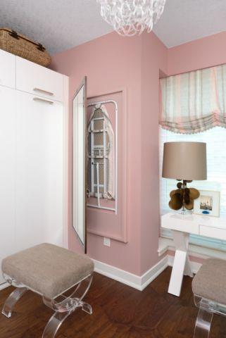 儿童房粉色橱柜现代风格装潢设计图片