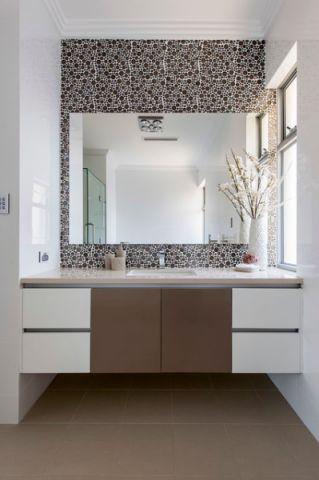 卫生间梳妆台现代风格装潢图片