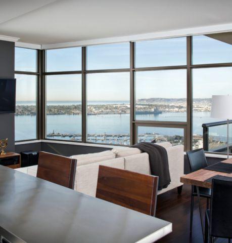 客厅白色细节现代风格装潢设计图片