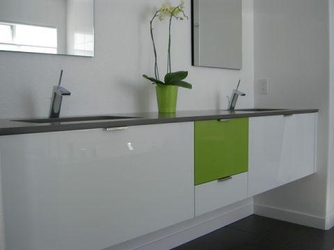 卫生间米色梳妆台现代风格装饰图片