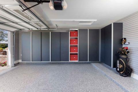车库地砖现代风格效果图