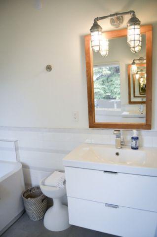 卫生间背景墙现代风格装饰图片