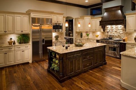 充满活力美式风格厨房装修效果图_土拨鼠2017装修图片大全