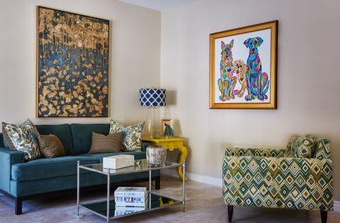 客厅照片墙美式风格装潢图片