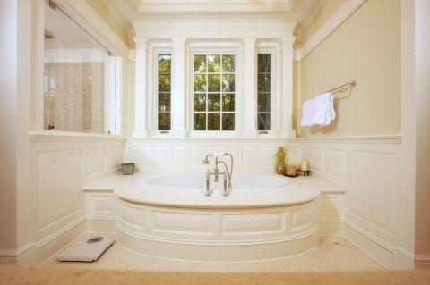 卫生间窗台美式风格装潢图片