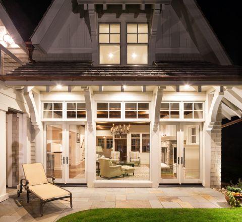 阳台白色细节美式风格装潢效果图