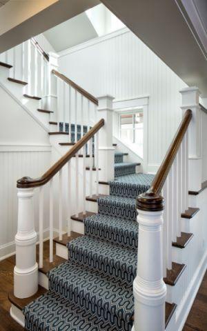 客厅白色楼梯美式风格装饰图片