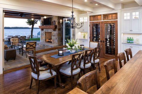 餐厅细节美式风格装饰设计图片